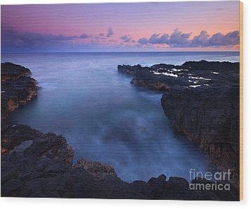 Kauai  Pastel Tides Wood Print by Mike  Dawson