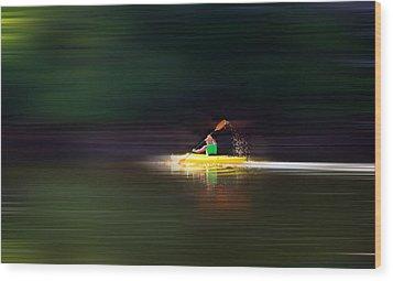 Kayak Ks Wood Print