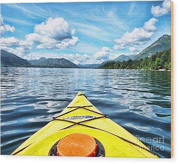 Kayaking In Bc Wood Print