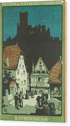 Kaysersberg Alsace Wood Print by Georgia Fowler