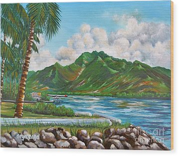 Keehi Lagoon Wood Print