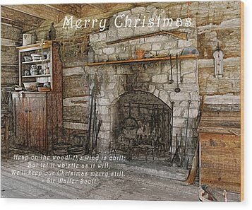 Keep Christmas Merry Wood Print by Michael Peychich