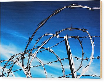 Keep Out Wood Print by Wendy White