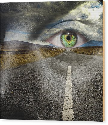 Keep Your Eyes On The Road Wood Print by Semmick Photo