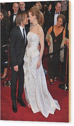 Keith Urban, Nicole Kidman At Arrivals Wood Print by Everett