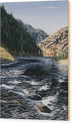 Kelly Creek Wood Print by Kurt Jacobson