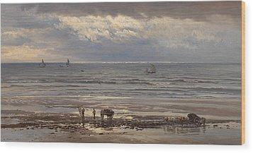 Kelp Gatherers Wood Print by Henry Moore