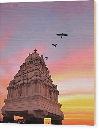 Kempegowda Tower - Lal Bagh, Bangalore Wood Print by Joseph riBin rOy