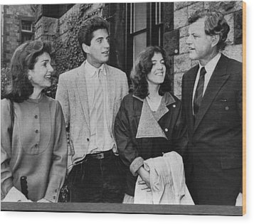 Kennedy Family. From Left  Former First Wood Print by Everett