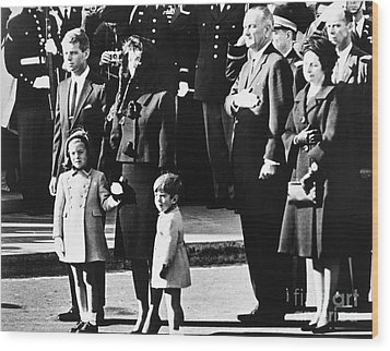 Kennedy Funeral, 1963 Wood Print by Granger