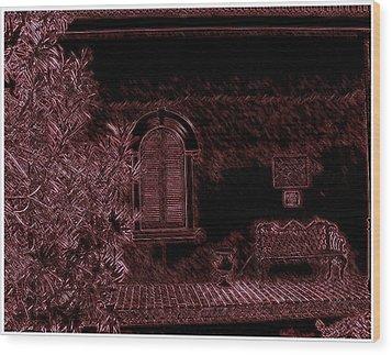 Kenner Bench Wood Print by Marian Hebert