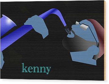 Kenny Garrett Blue Wood Print