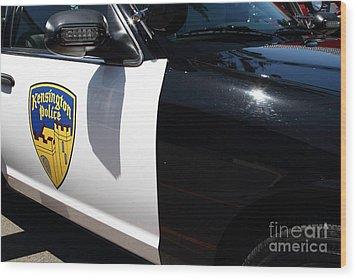 Kensington California Police Car . 7d15876 Wood Print by Wingsdomain Art and Photography