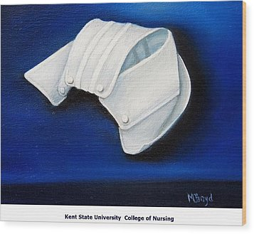 Wood Print featuring the painting Kent State University College Of Nursing by Marlyn Boyd