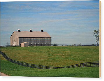 Kentucky Barn Wood Print by Amee Cave
