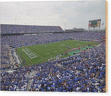 Kentucky Commonwealth Stadium Wood Print by University of Kentucky