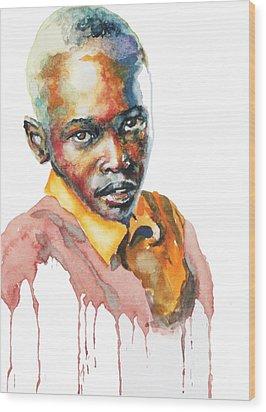 Kenya Blue Wood Print