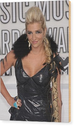 Kesha At Arrivals For 2010 Mtv Video Wood Print by Everett