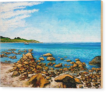 Kettle Cove Wood Print by Tom Roderick