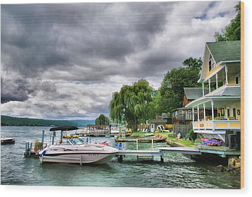 Keuka Lake Shoreline Wood Print by Steven Ainsworth