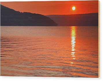 Keuka Sunrise  Wood Print by Steven Ainsworth