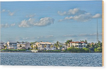 Key Largo Houses Wood Print by Chris Thaxter