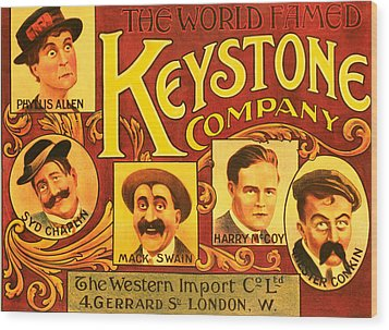 Keystone Film Company, Promotional Wood Print by Everett