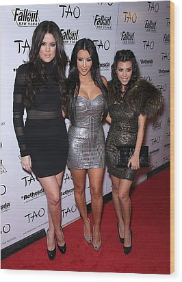 Khloe Kardashian, Kim Kardashian Wood Print by Everett