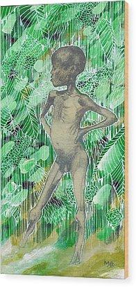 Kid Wood Print by Agenor  Marti
