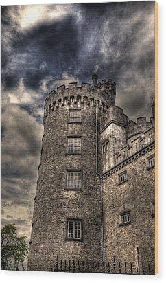 Kilkenny Castle Wood Print by Barry R Jones Jr