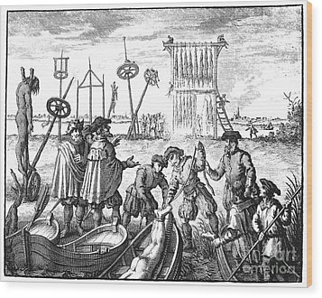 Killing Of Anabaptists Wood Print by Granger