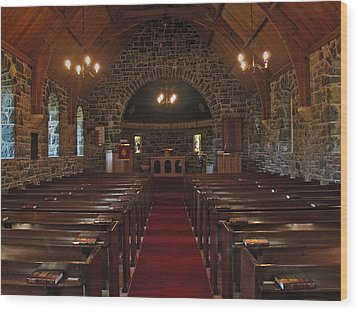Kilmore Church Dervaig Wood Print by Steve Watson