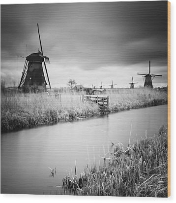 Kinderdijk 01 Wood Print by Nina Papiorek