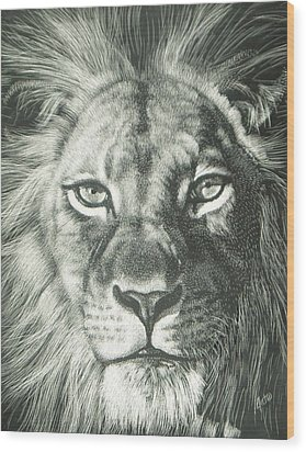 King 2 Wood Print by Joanna Gates