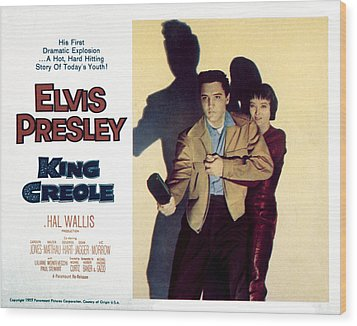 King Creole, Elvis Presley, Carolyn Wood Print by Everett