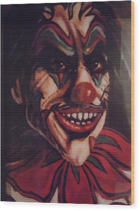 Wood Print featuring the painting King Klown by James Guentner