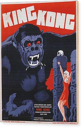 King Kong, Danish Poster Art, 1933 Wood Print by Everett