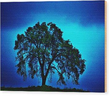 King Oak Wood Print by Helen Carson