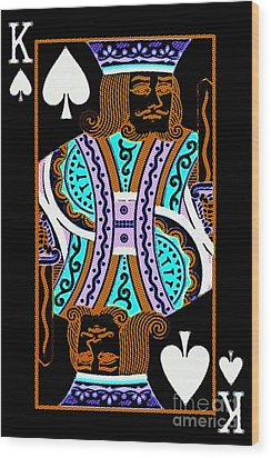 King Of Spades Wood Print by Wingsdomain Art and Photography