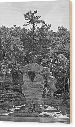 King Of The Hill Pictured Rocks Wood Print by Michael Peychich