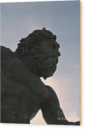 Wood Print featuring the photograph King Of The Sea II by Nancy Dole McGuigan