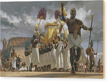 King Taharqa Leads His Queens Wood Print by Gregory Manchess