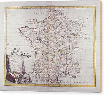 Kingdom Of France Divided Into Its Governments Wood Print by Fototeca Storica Nazionale