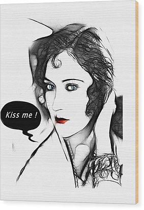Kiss Me 2 Wood Print by Steve K