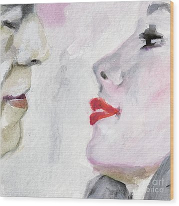 Kiss Me  Wood Print by Ginette Callaway