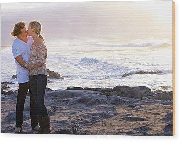 Kissed By The Ocean Wood Print