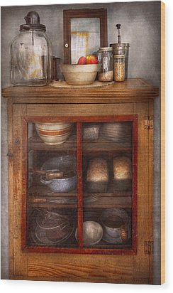 Kitchen - The Cooling Cabinet Wood Print by Mike Savad