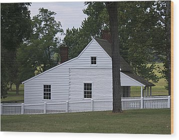 Kitchen And Slave Quarters Appomattox Virginia Wood Print by Teresa Mucha