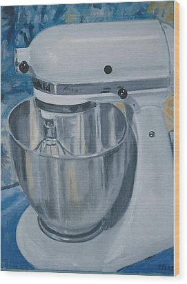 Kitchen Mixer Wood Print by Terry Forrest