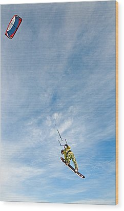 Kite Board Wood Print by Elijah Weber